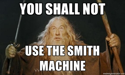 There are few topics that irritate me as much as those who argue for the  legitimacy of the Smith machine in an athlete's proper strength training  program.